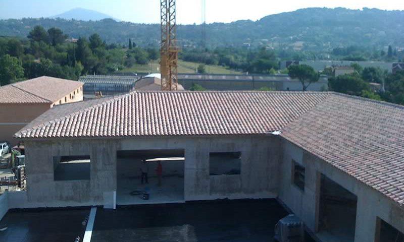 Batacier construction ossature métallique en Isère