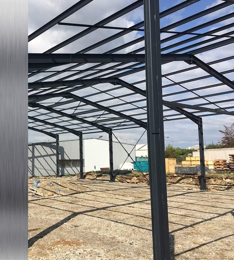 Batacier_construction de hangar metallique_ossature métallique isère
